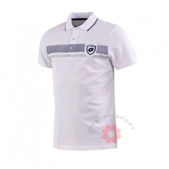 Поло маица Crown Бела/Тегет